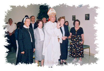 The Bishop blesses the Retirement Home.