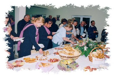 Well, we certainly can't let this food go to waste!<br /> This was a day of celebration!
